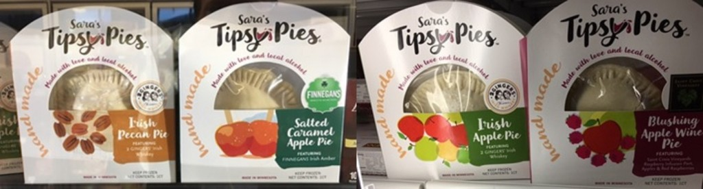 Tipsy Pies Old Packaging